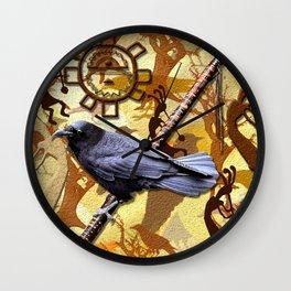Kokopelli Raven - A Tribute to Music-lovers Wall Clock