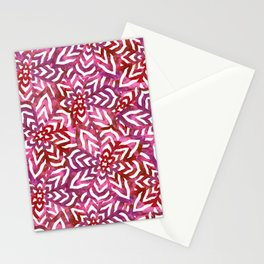 I don't need to improve - Pink and red Stationery Cards