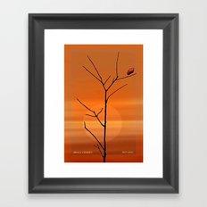 When the last leaf falls. Framed Art Print