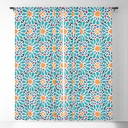 Alhambra's tiles Blackout Curtain