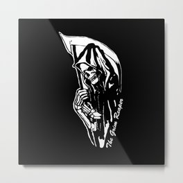 MAKE THIS OCTOBER AND HALLOWEEN A SCREAM WITH THE GRIM REAPER Metal Print