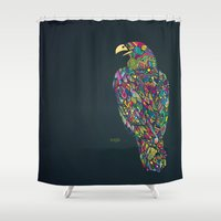 eagle Shower Curtains featuring Eagle by Narek Gyulumyan