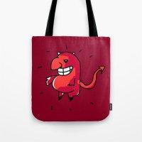 diablo Tote Bags featuring Diablo by sitnuna