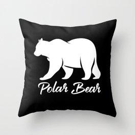 Polar Bear White Bear North Pole Ice Bears Throw Pillow