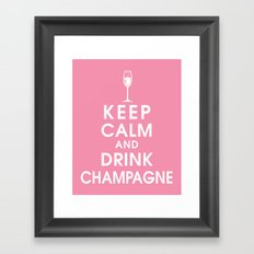 Keep Calm and Drink Champagne Framed Art Print