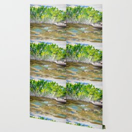 Florida Mangrove Tea Water in the Everglades Wallpaper