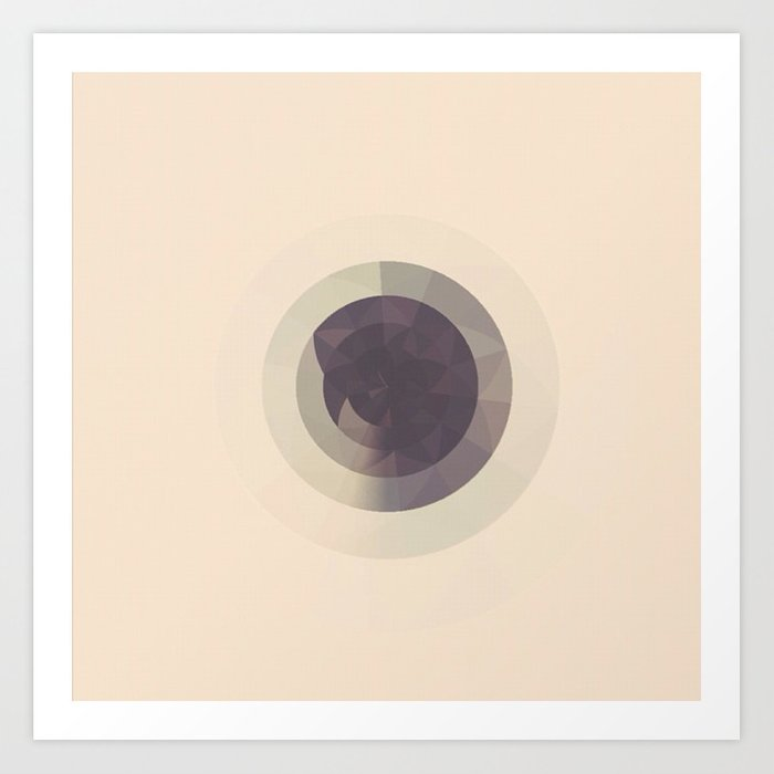 CIRCLES ON CIRCLES Art Print