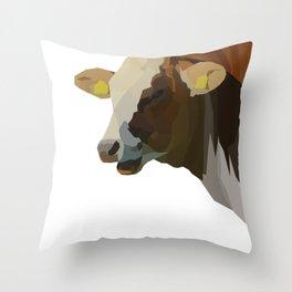 Hilarious Cow Throw Pillow