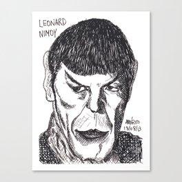 Leonard Nimoy drawing Canvas Print
