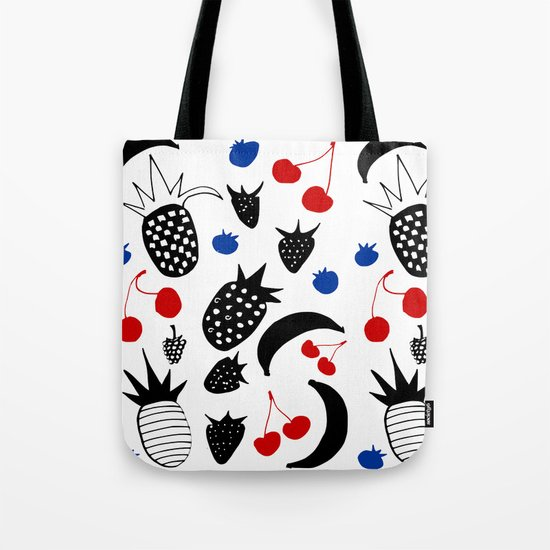 Fruit Salad white Tote Bag