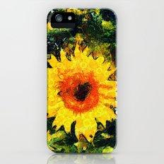 van Gogh styled sunflowers version 1  iPhone (5, 5s) Slim Case