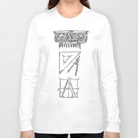 tool Long Sleeve T-shirts featuring Architect's Tool Kit by Fiorella Modolo