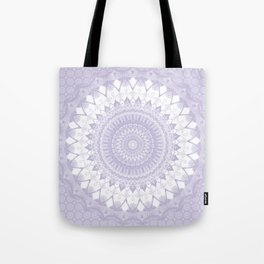 Boho Pastel Purple Mandala Tote Bag