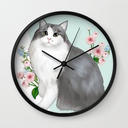 Cat Selly Wall Clock