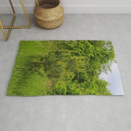 Pine and Green Meadow Rug