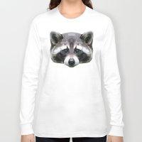 rocket raccoon Long Sleeve T-shirts featuring Raccoon // Mint by peachandguava