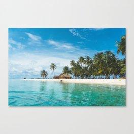 Huts on the San Blas Islands, Panama Canvas Print
