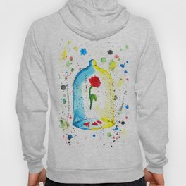 Rose (Beauty and the Beast) - Watercolor Painting Hoody
