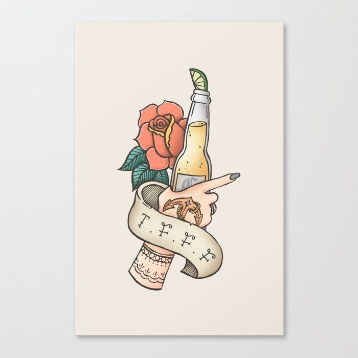 Thank F*** For Fridays Canvas Print