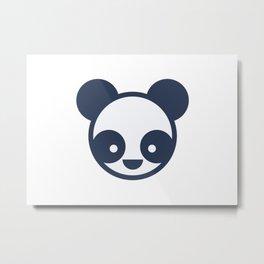 Panda Bear Logo Metal Print