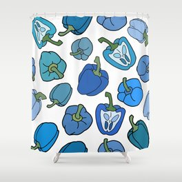 Blue Bell Peppers Shower Curtain