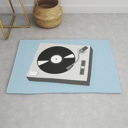 Turntable Illustration Rug