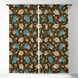 Colorful Roses pattern Blackout Curtain