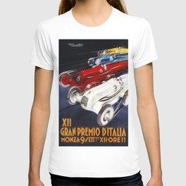 1934 12th Italian Grand Prix Grand Premio d'Italia Monza Plinio Codognato Vintage Poster T-shirt