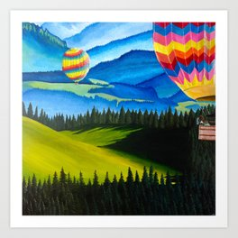 Acrylic Hot Air Balloons Art Print