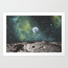 FLOATING THROUGH SPACE Art Print