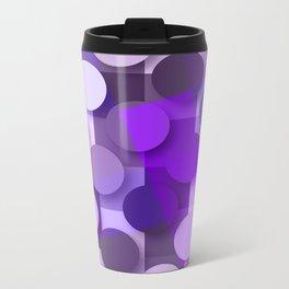 squares & dots violet Metal Travel Mug
