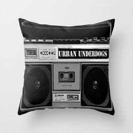 Urban Underdogs Boom Box Throw Pillow