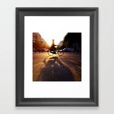 bike/shadow Framed Art Print
