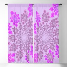 Delicate flowers in pink Blackout Curtain