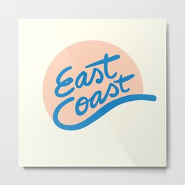 East Coast Metal Print