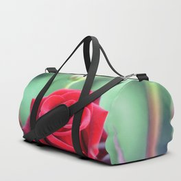 Roses on the city flowerbed. Duffle Bag