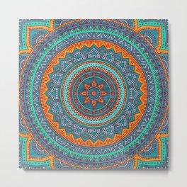 Hippie mandala 75 Metal Print