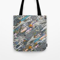 battlestar Tote Bags featuring Battlestar by Guy Warley