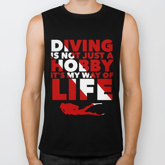 Scuba diving is my way of life Biker Tank