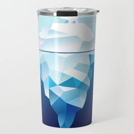 Ice Burg And Polar Bear Travel Mug