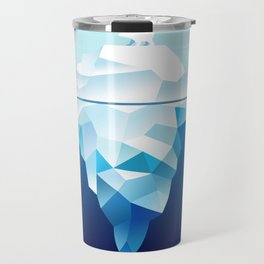 Ice Burg And Polar Bear Travel Mug