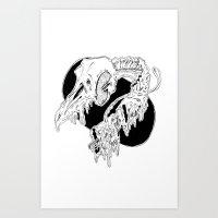 Bird out of flight Art Print