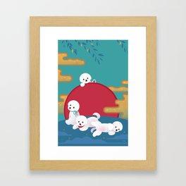 Year of dog Framed Art Print