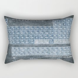 Tableau Periodiques Periodic Table Of The Elements Vintage Chart Blue Rectangular Pillow