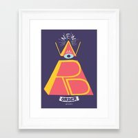 new order Framed Art Prints featuring New Word Order! by Muro Buro
