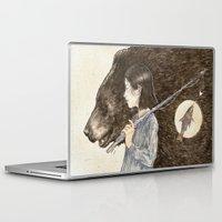 fishing Laptop & iPad Skins featuring Fishing by natalieruka
