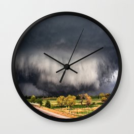 Tornado Day - Storm Touches Down in Northwest Oklahoma Wall Clock