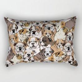 Social English Bulldog Rectangular Pillow