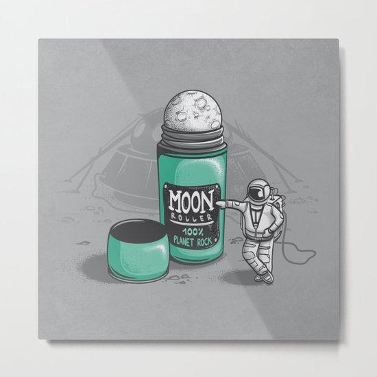 Moon Roller Metal Print