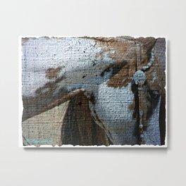 Paint Horse Crackle Metal Print